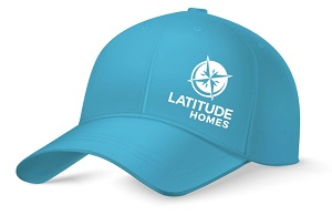 Latitude Homes new collateral marketing hat