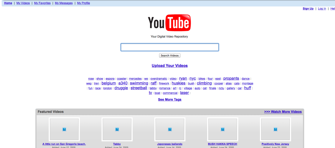 youtube home page evolution