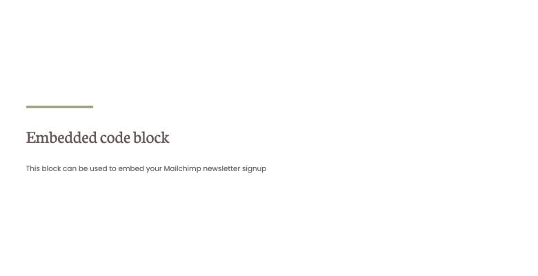 Embedded code block