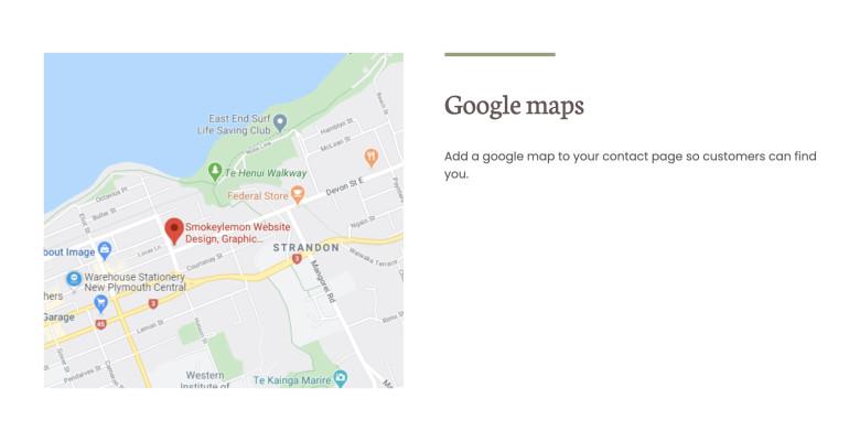 Google map block